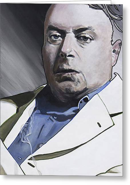 Portrait Greeting Cards - Hitchens Greeting Card by Simon Kregar