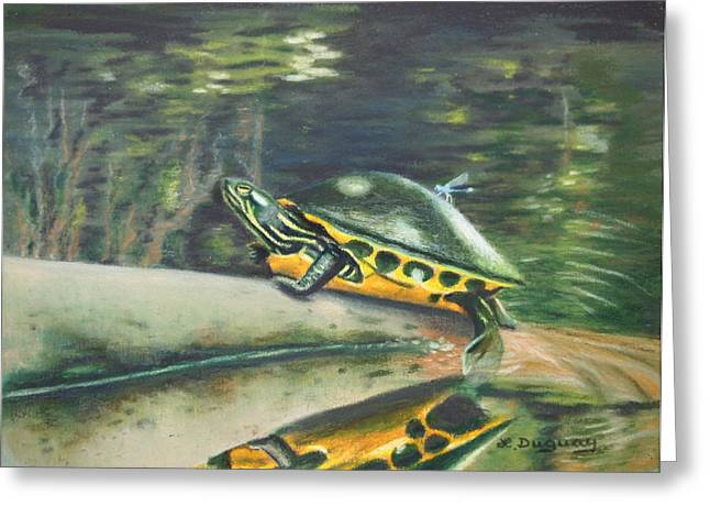 Amphibian Mixed Media Greeting Cards - Hitchhiker Greeting Card by Lora Duguay