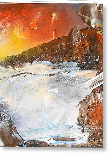 Non-figurative Greeting Cards - Hj1157 Greeting Card by Ulrich De Balbian
