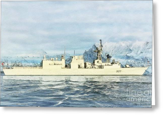 Sot Greeting Cards - HMCS Fredericton by Shawna Mac Greeting Card by Shawna Mac