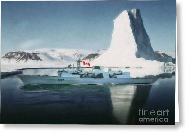Sot Greeting Cards - HMCS Fredericton V2 by Shawna Mac Greeting Card by Shawna Mac