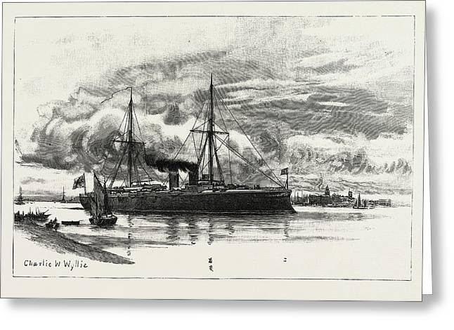 H.m.s. Blake, The Protected Cruiser Recently Launched Greeting Card by Litz Collection