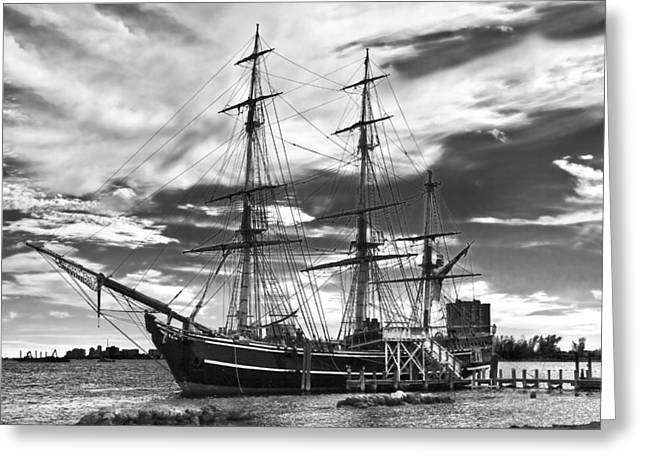 Hms Bounty Singer Island Greeting Card by Debra and Dave Vanderlaan