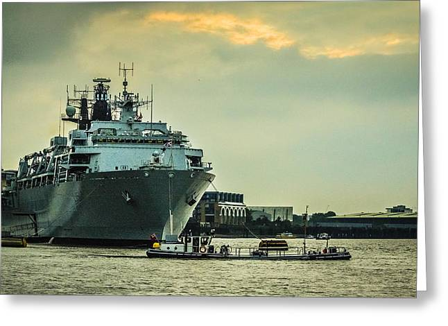Police Art Greeting Cards - HMS Bulwark Greeting Card by Dawn OConnor