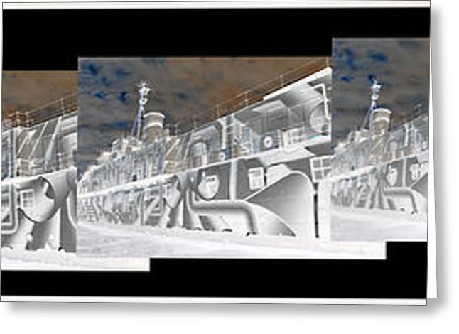Anti Greeting Cards - HMS President No3 Neg Greeting Card by Elaine MacKenzie