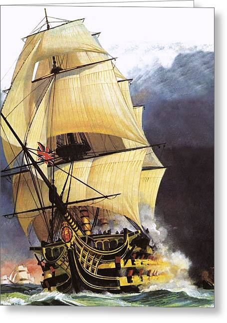 Admiral Greeting Cards - Hms Victory Greeting Card by Andrew Howat