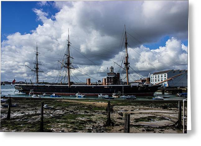 Hms Warrior Portsmouth Historic Docks Greeting Card by Martin Newman