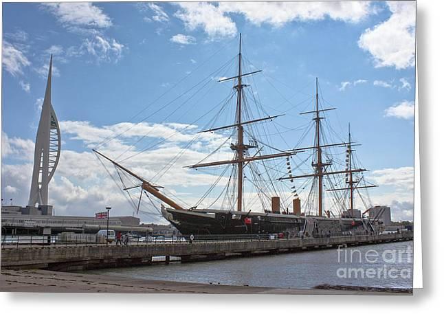 Water Vessels Greeting Cards - HMS Warrior Greeting Card by Terri  Waters