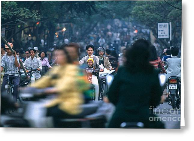 Kim Photographs Greeting Cards - Ho Chi Minh City Trafic Greeting Card by Kim Lessel
