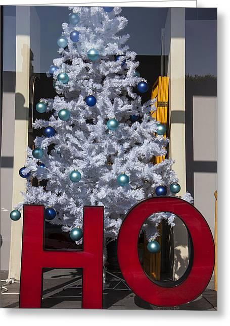 Xmas Tree Greeting Cards - HO Christmas Tree Greeting Card by Garry Gay