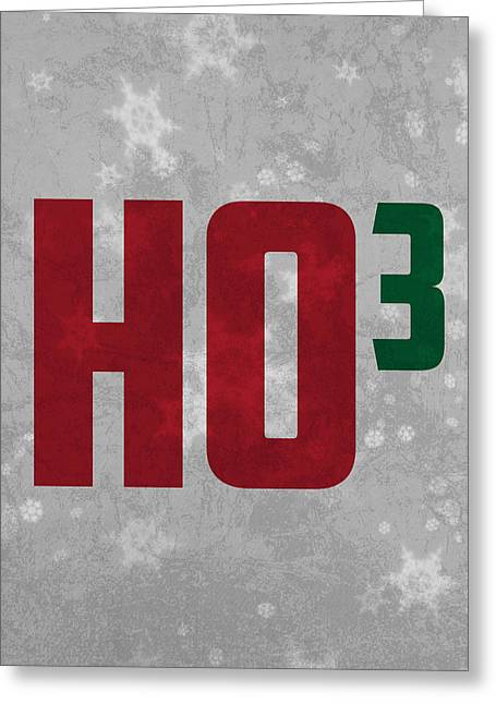 Nuclei Greeting Cards - Ho Ho Ho Have a Very Nerdy Christmas Greeting Card by Design Turnpike