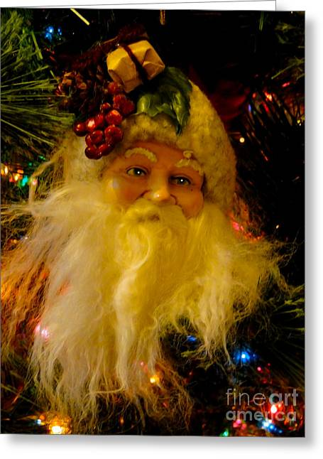 Nicholas Greeting Cards - Ho Ho Ho Merry Christmas Greeting Card by Al Bourassa