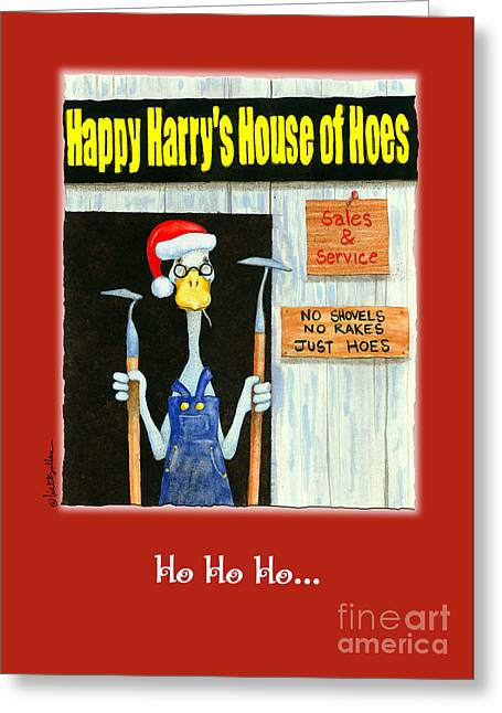 Ho Ho Ho  Greeting Card by Will Bullas