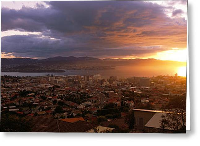 Sprawl Greeting Cards - Hobart, Australia Greeting Card by Panoramic Images