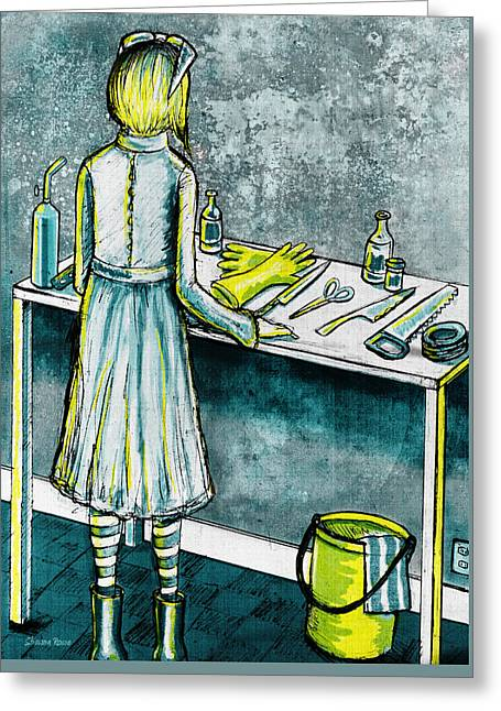 Serial Killer Mixed Media Greeting Cards - Hobbies Greeting Card by Shawna  Rowe