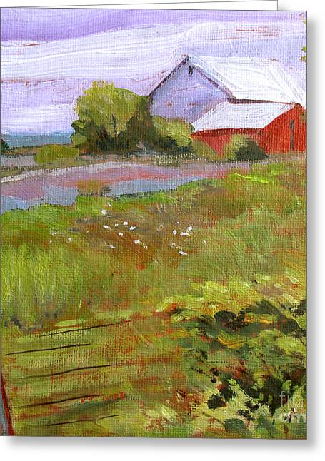 Outbuildings Greeting Cards - Hobbs Farm Greeting Card by Charlie Spear