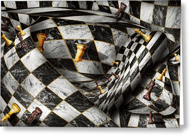 Chess Rook Greeting Cards - Hobby - Chess - Your move Greeting Card by Mike Savad