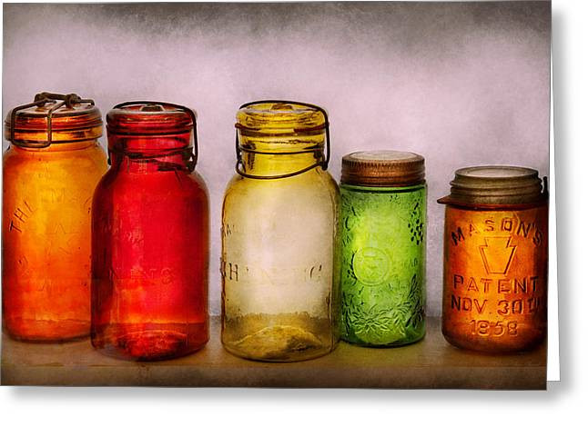 Hobby - Jars - I'm A Jar-aholic  Greeting Card by Mike Savad