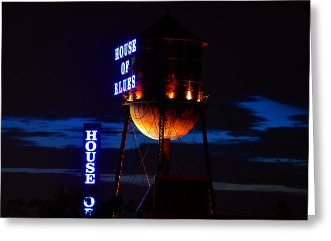 Florida House Greeting Cards - House of Blues night Greeting Card by David Lee Thompson