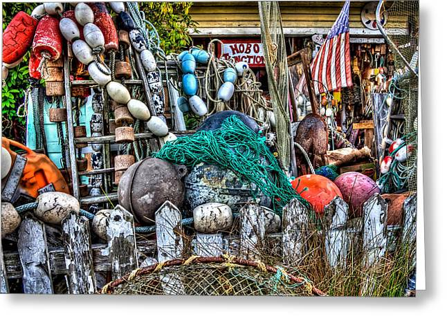 Photo Art Gallery Greeting Cards - Hobo Junction Buoys Greeting Card by Thom Zehrfeld