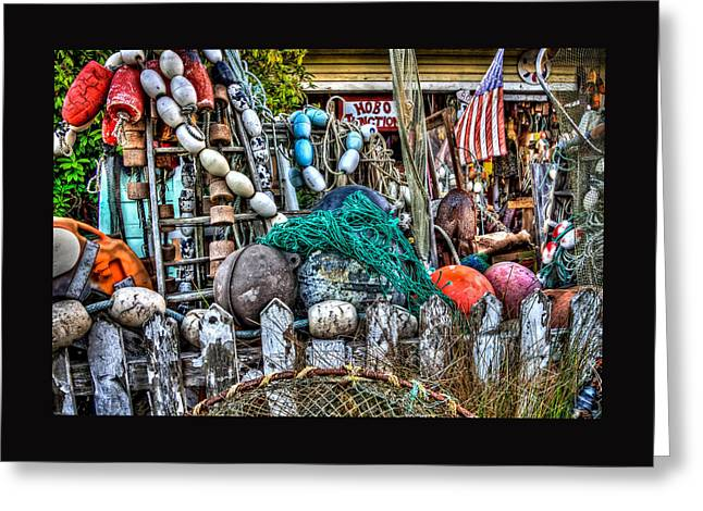 Beach Pictures Greeting Cards - Hobo Junction Buoys Greeting Card by Thom Zehrfeld