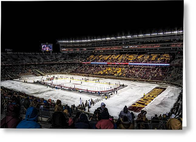 Hockey City Classic Greeting Card by Tom Gort