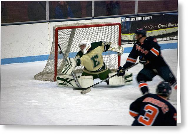 Photography By Tom Woolworth Greeting Cards - Hockey Off the Handle Greeting Card by Thomas Woolworth