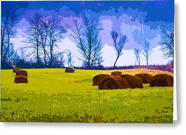 Haybale Mixed Media Greeting Cards - Hocking Hills 10 Greeting Card by Brian Stevens