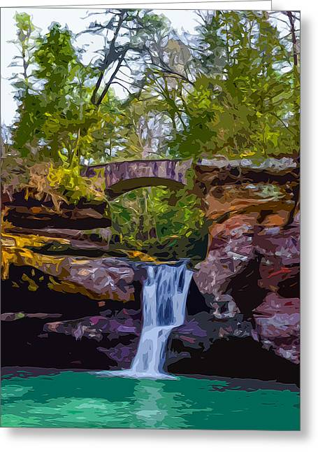 Hocking Hills State Park 2 Greeting Card by Brian Stevens