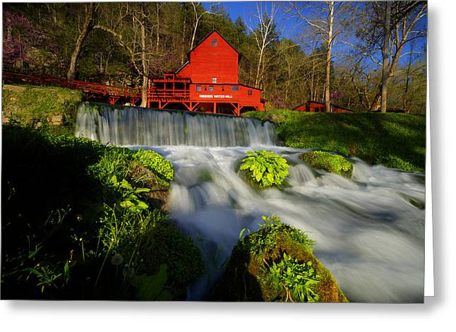 Grist Mill Greeting Cards - Hodgson Mill 3 Greeting Card by Kevin  Whitworth