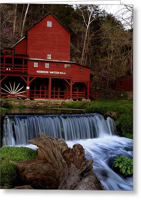 Grist Mill Greeting Cards - Hodgson Mill Greeting Card by Kevin  Whitworth