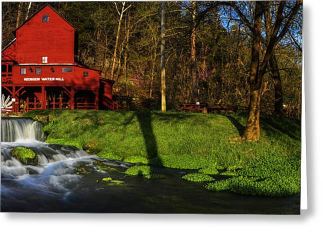 Grist Mill Greeting Cards - Hodgson Mill Pano Greeting Card by Kevin  Whitworth