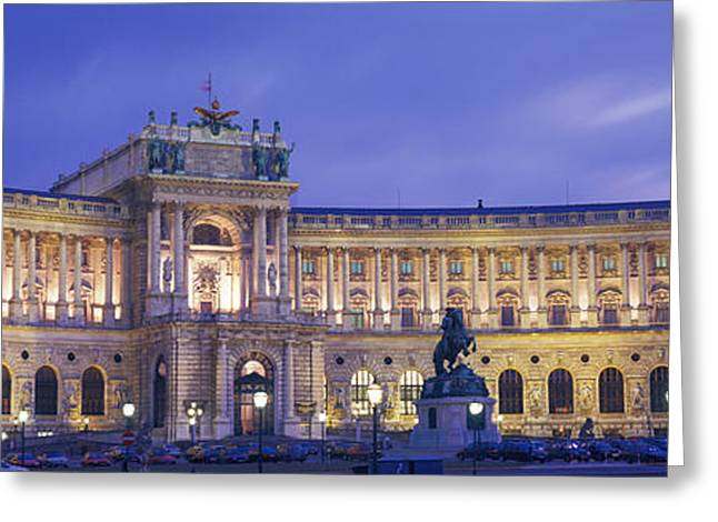 Royalty Greeting Cards - Hofburg Imperial Palace, Heldenplatz Greeting Card by Panoramic Images