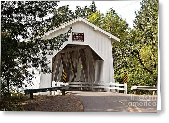 Covered Bridge Greeting Cards - Hoffman Covered Bridge Greeting Card by Scott Pellegrin