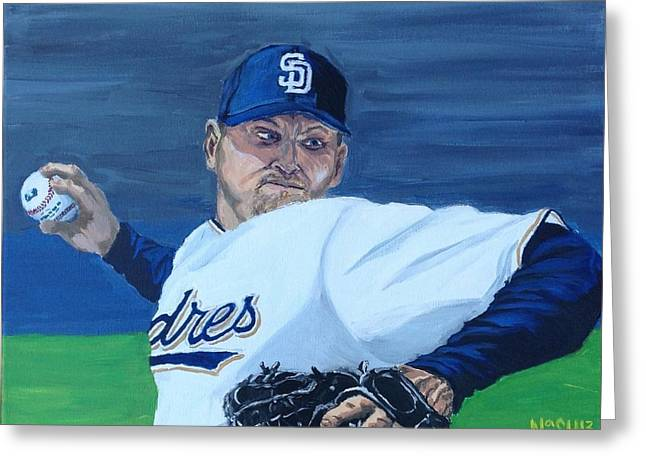 Petco Park Paintings Greeting Cards - Hoffy Greeting Card by Jeremy Nash