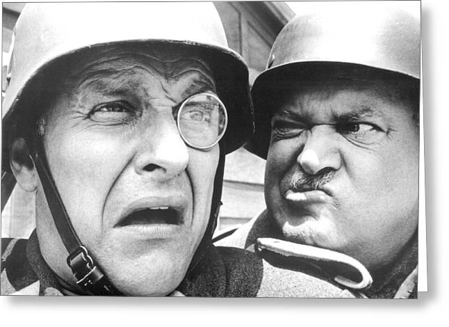 Hogan Greeting Cards - Hogans Heroes  Greeting Card by Silver Screen