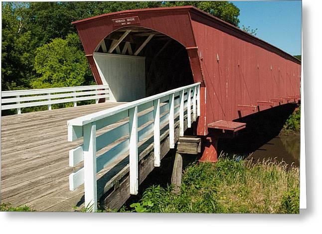 Hogback Bridge Madison County Iowa Greeting Card by Robert Ford