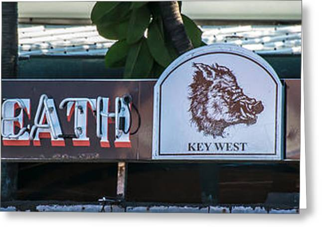 Saloons Greeting Cards - Hogs Breath Saloon 1 Key West Greeting Card by Ian Monk