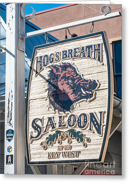 Hog's Breath Saloon 2 Key West Greeting Card by Ian Monk
