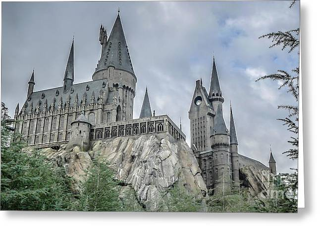 Harry Potter Greeting Cards - Hogswarts Castle  Greeting Card by Edward Fielding