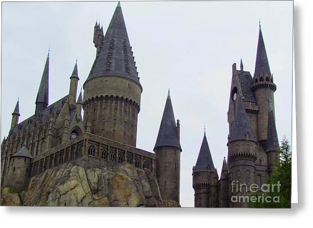 Hogwarts Castle Greeting Card by Elizabeth Dow