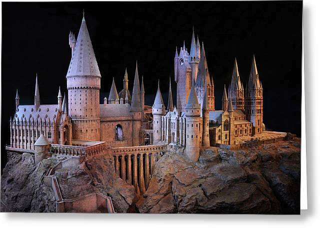Hogwarts Castle Greeting Card by Tanis Crooks
