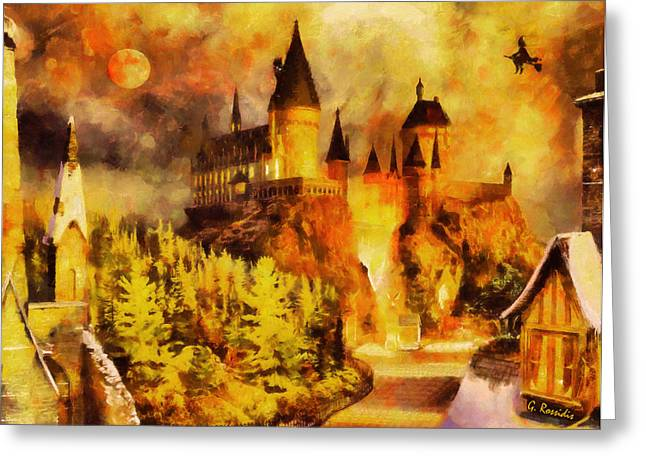 Hogwarts Greeting Cards - Hogwarts college Greeting Card by George Rossidis