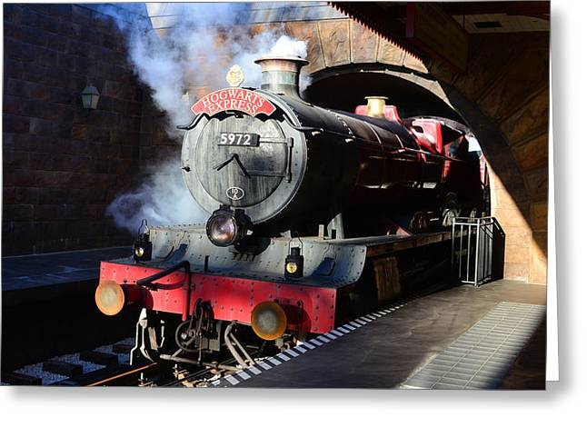 Hogwarts Greeting Cards - The Hogwarts Express is here Greeting Card by David Lee Thompson