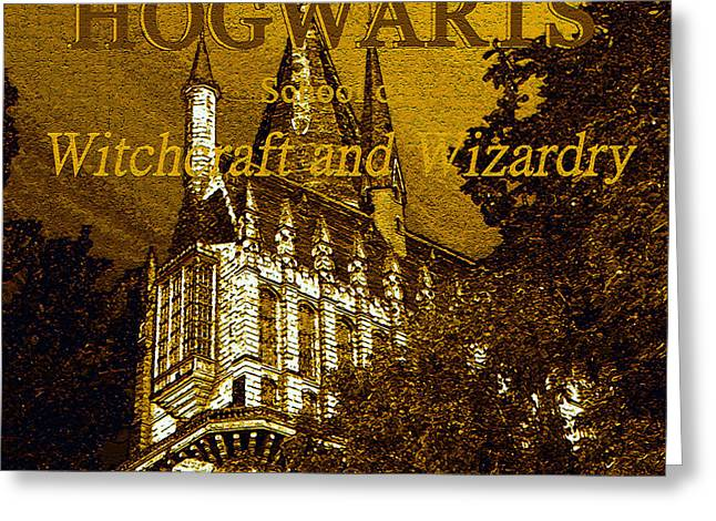 Hogwarts Since 990 Ad Greeting Card by David Lee Thompson