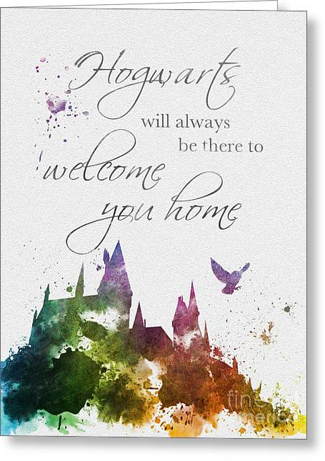 Purchase Greeting Cards - Hogwarts will welcome you home Greeting Card by Rebecca Jenkins
