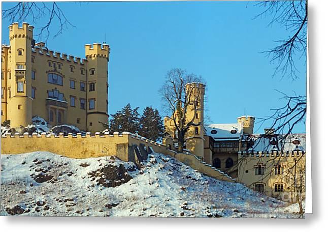 Hohenschwangau Castle Panorama In Winter Greeting Card by Rudi Prott