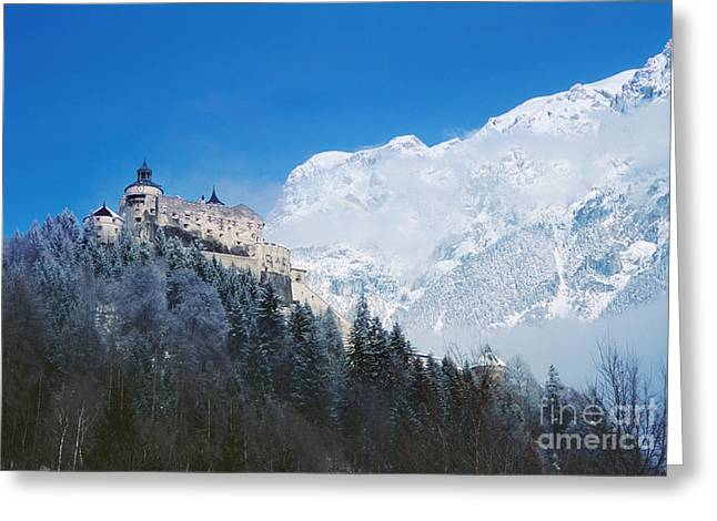 Styria Greeting Cards - Hohenwerfen Castle Greeting Card by Ladi  Kirn