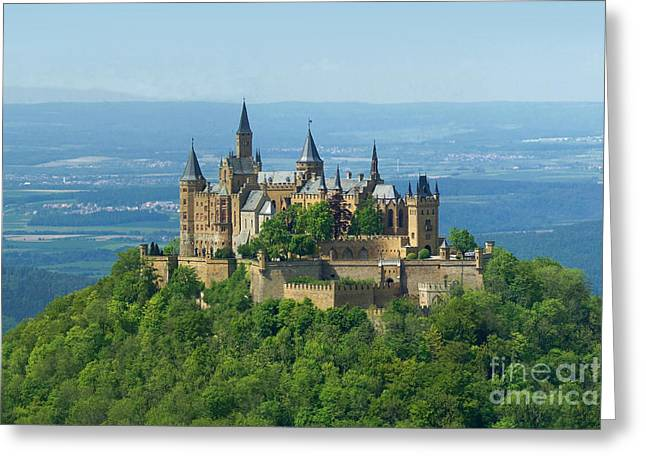 Rudi Prott Greeting Cards - Hohenzollern castle 5 Greeting Card by Rudi Prott