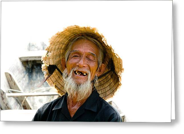 Young Adult Greeting Cards - Hoi An Fisherman Greeting Card by David Smith